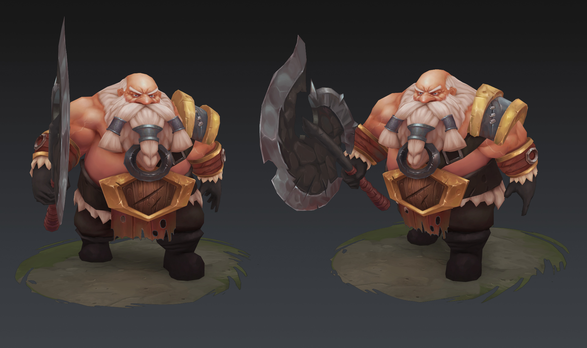 3D Hand-Painted Character Dwarf for games - Forum Gallery - Blender