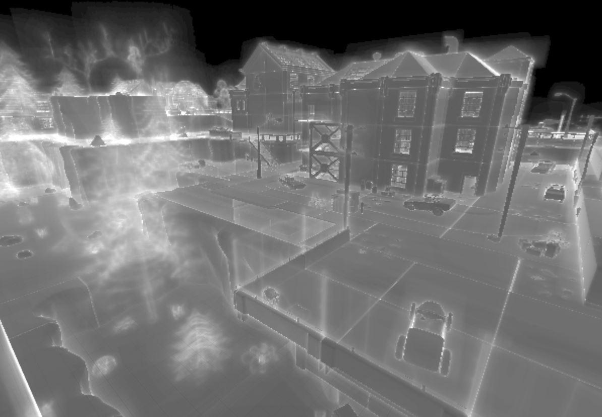 shoreline with mesh/global distance or pixel depth offset