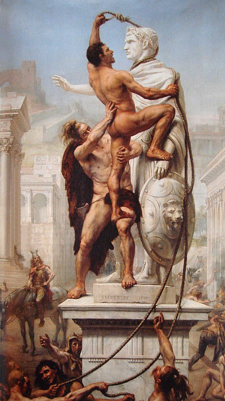 450px-Sack_of_Rome_by_the_Visigoths_on_24_August_410_by_JN_Sylvestre_1890
