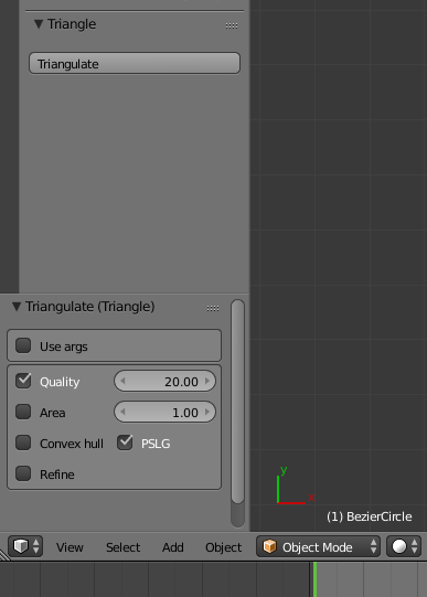 Triangle add-on for Blender - Released Scripts and Themes
