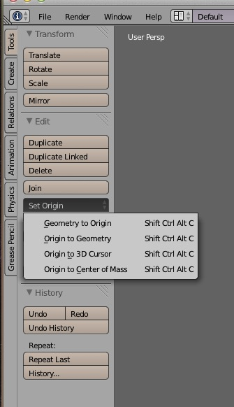 How to change the pivot point on a model for importing to unity