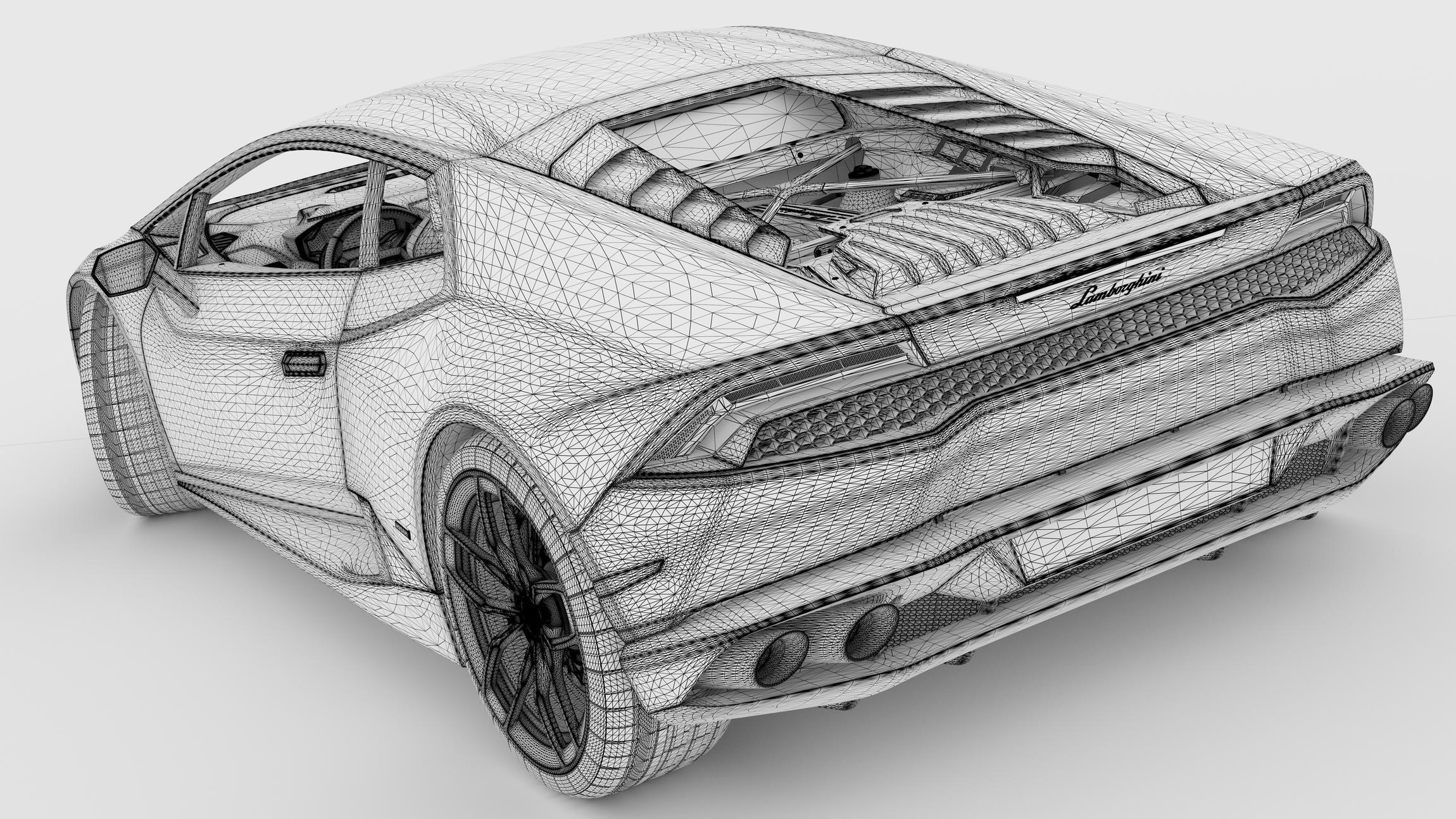 Lamborghini Huracan Line Drawing
