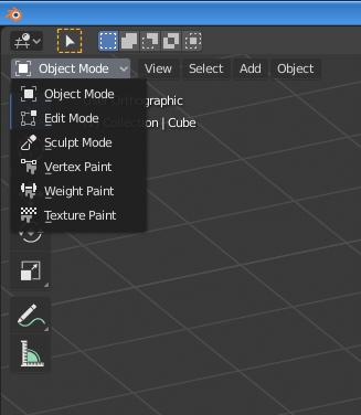 Blender_No-draw-mode-option