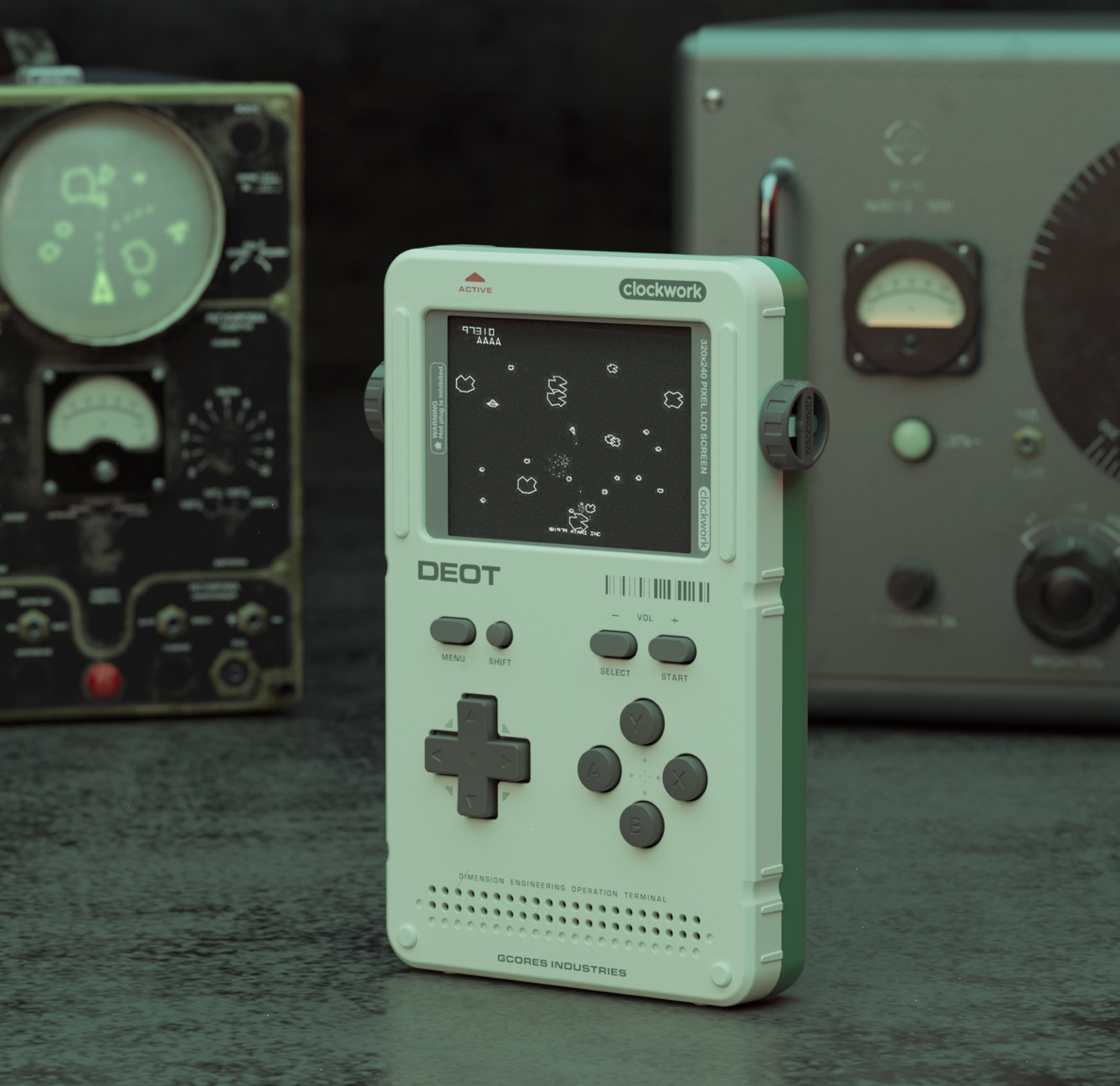 GameShell (an open source portable game console) 3D model is
