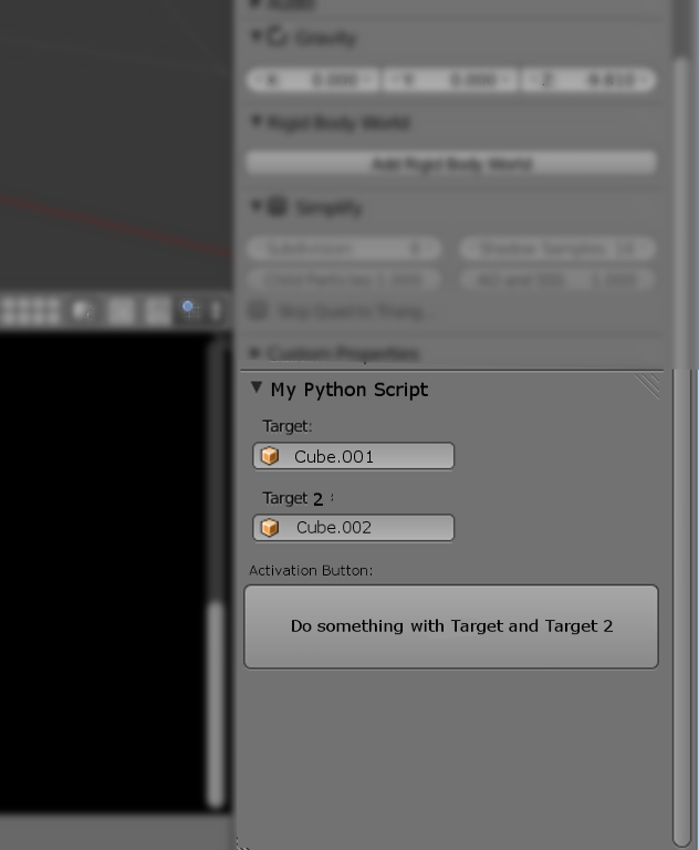 How to script target fields/buttons for panels? - Python