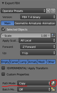 Can't embed textures inside FBX - Materials and Textures