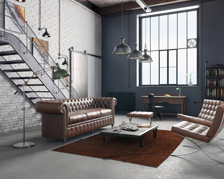 Industrial loft with vintage furniture