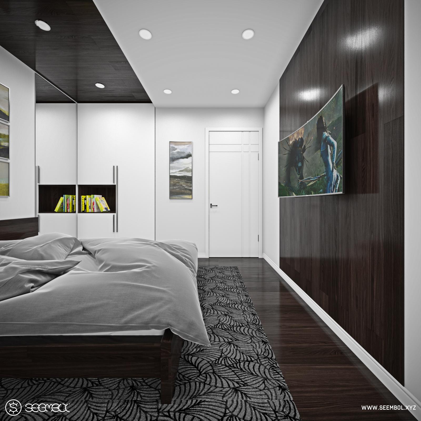 Blender interior design test in real production workflow