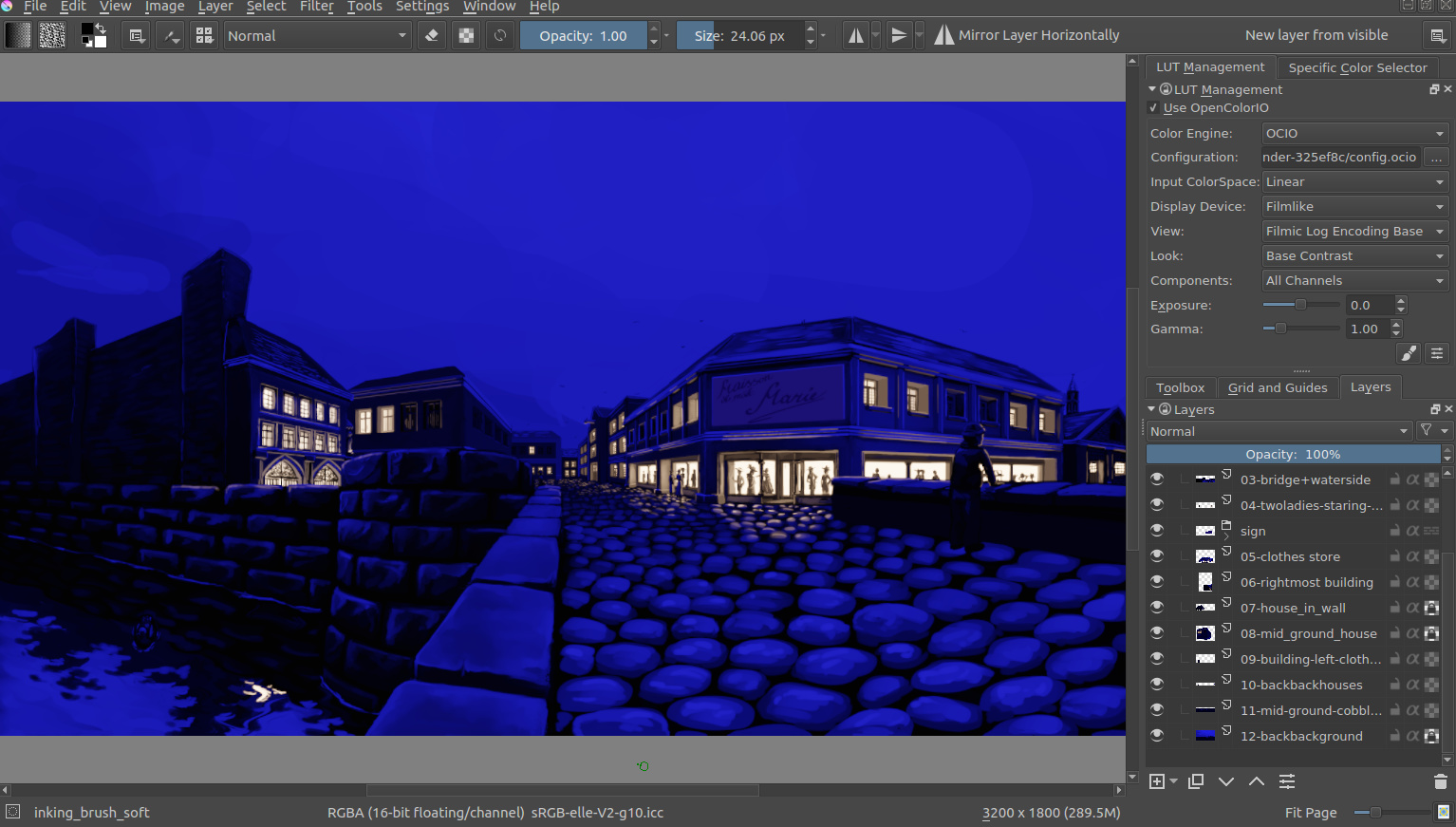 HDR painting experiments in Krita + compositing in Blender