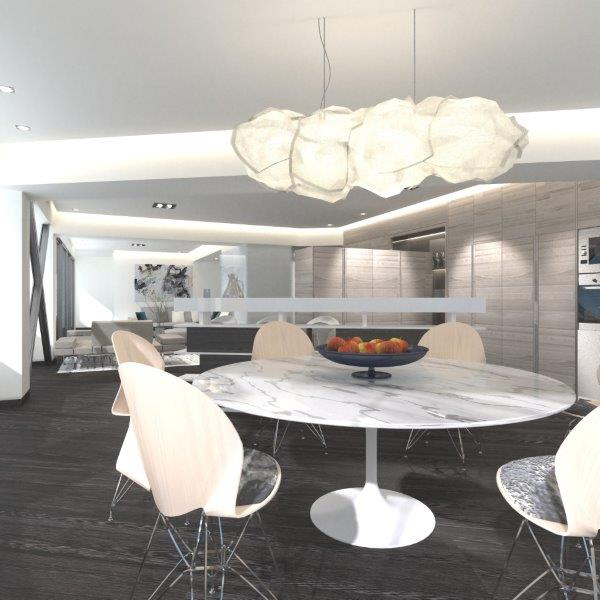 Apartment Architectural Interior: from Blender/Cycles Render to