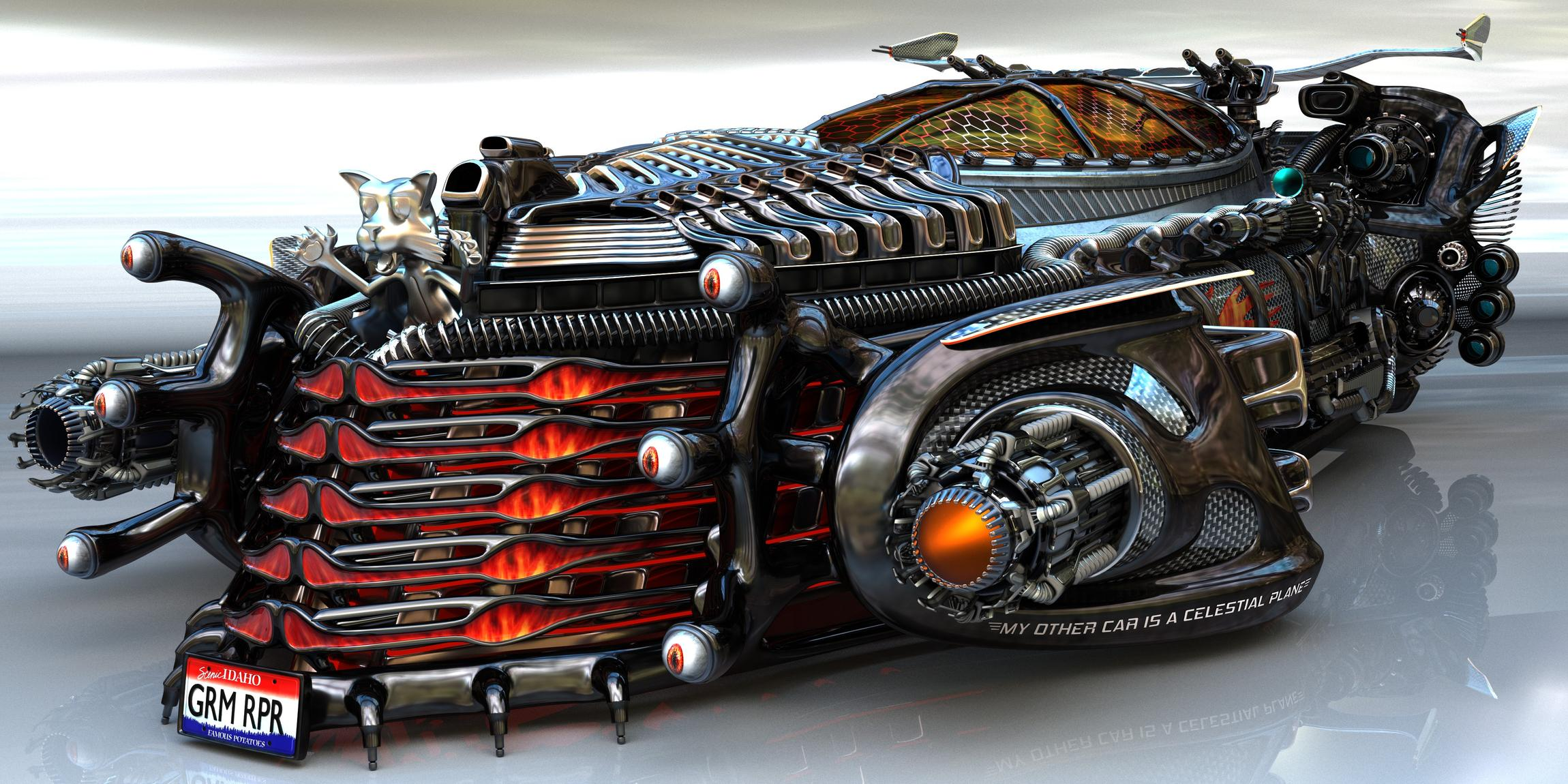 Grim Reaper's car: The Vortex Ripper - Forum Gallery - Blender ...