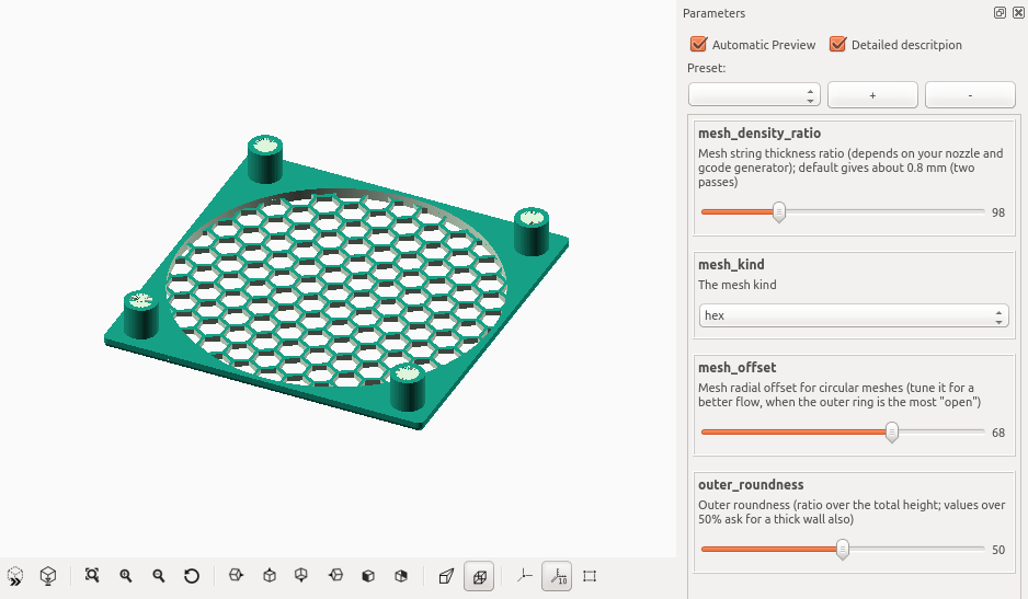 Replacing OpenScad with Vraag Construct - Python Support - Blender