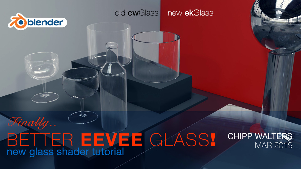 Realistic Glass in Eevee - Tutorials, Tips and Tricks