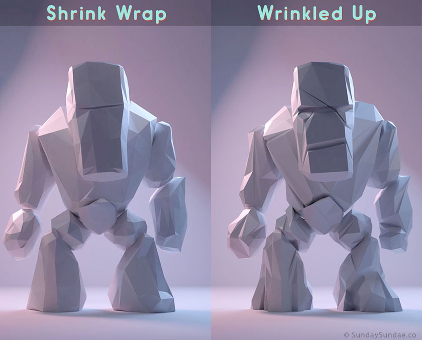 Low-Poly-Rock-Monster-Shrink-Wrap