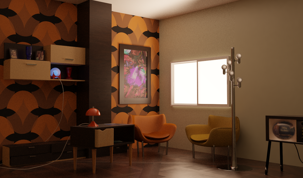 70s Living Room Finished Projects Blender Artists Community