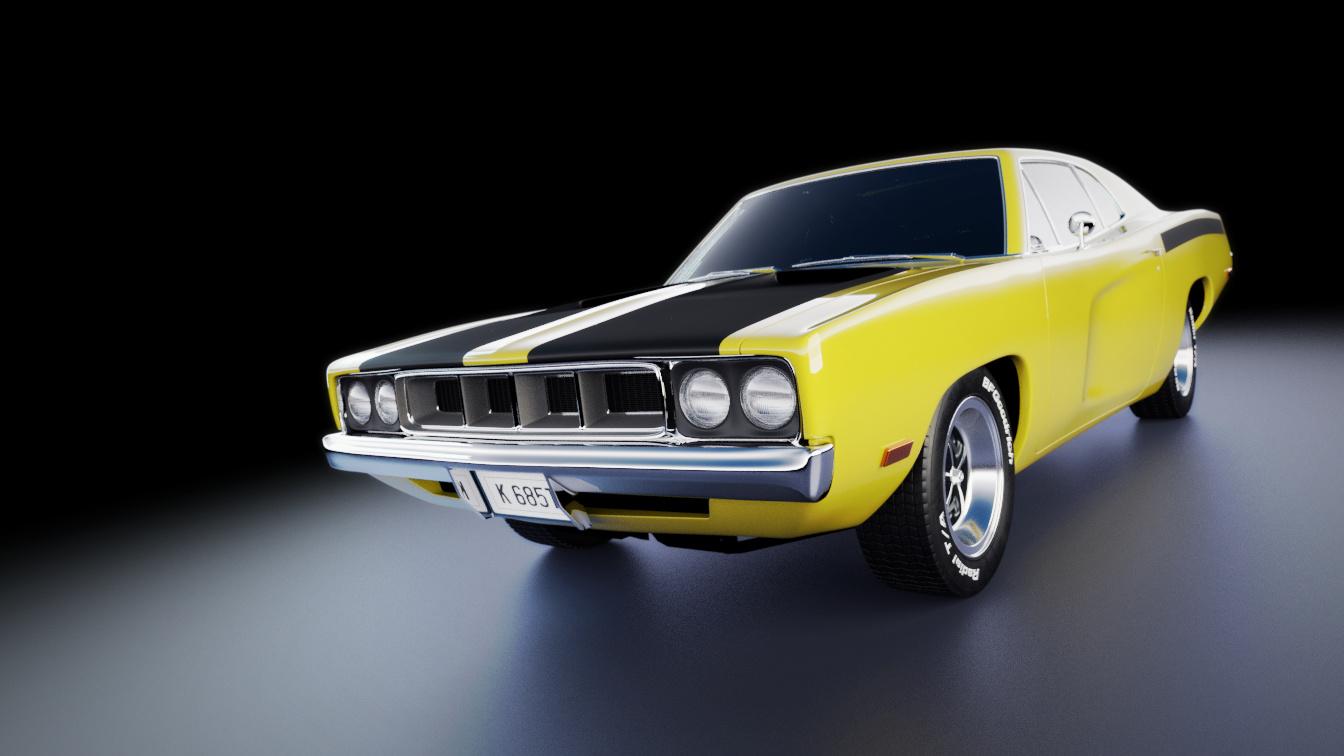 70's style, original design car - Finished Projects - Blender