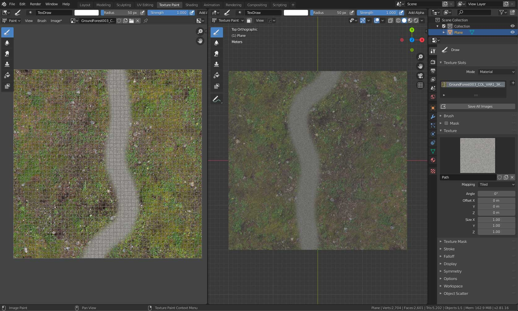 Texture Painting Over Base Layer That Has Mapping Scale Applied Materials And Textures Blender Artists Community