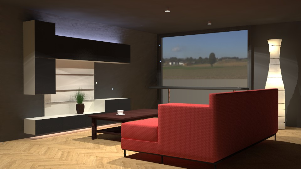 Living Room Vray+Blender (Re-textured and re-rendered with Cycles