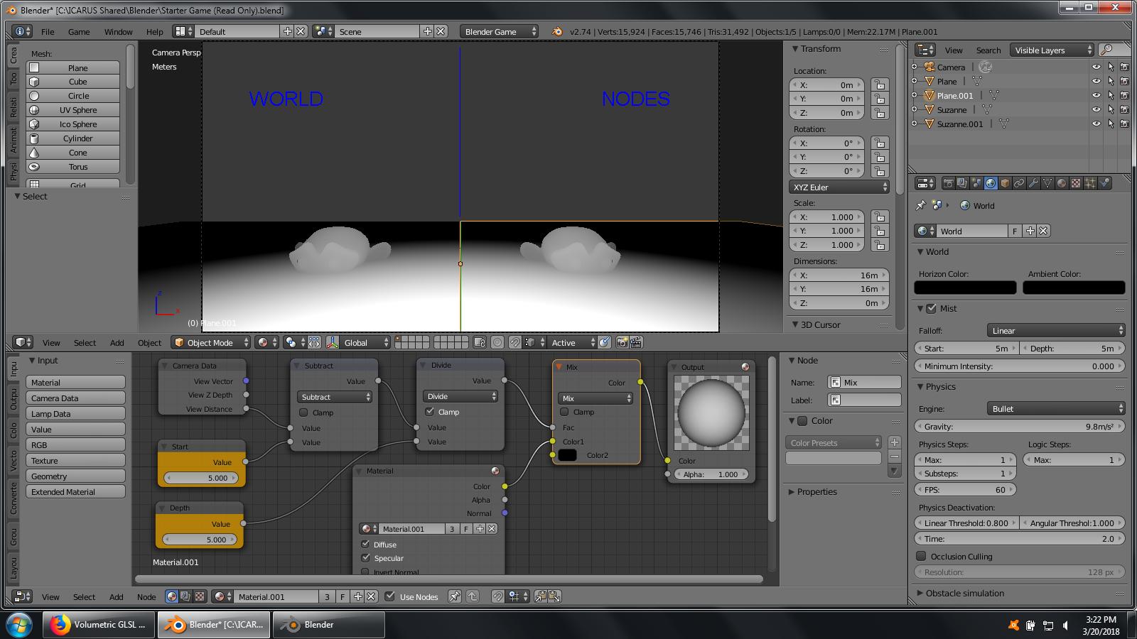 Volumetric GLSL Fog Blast from the past - Game Engine