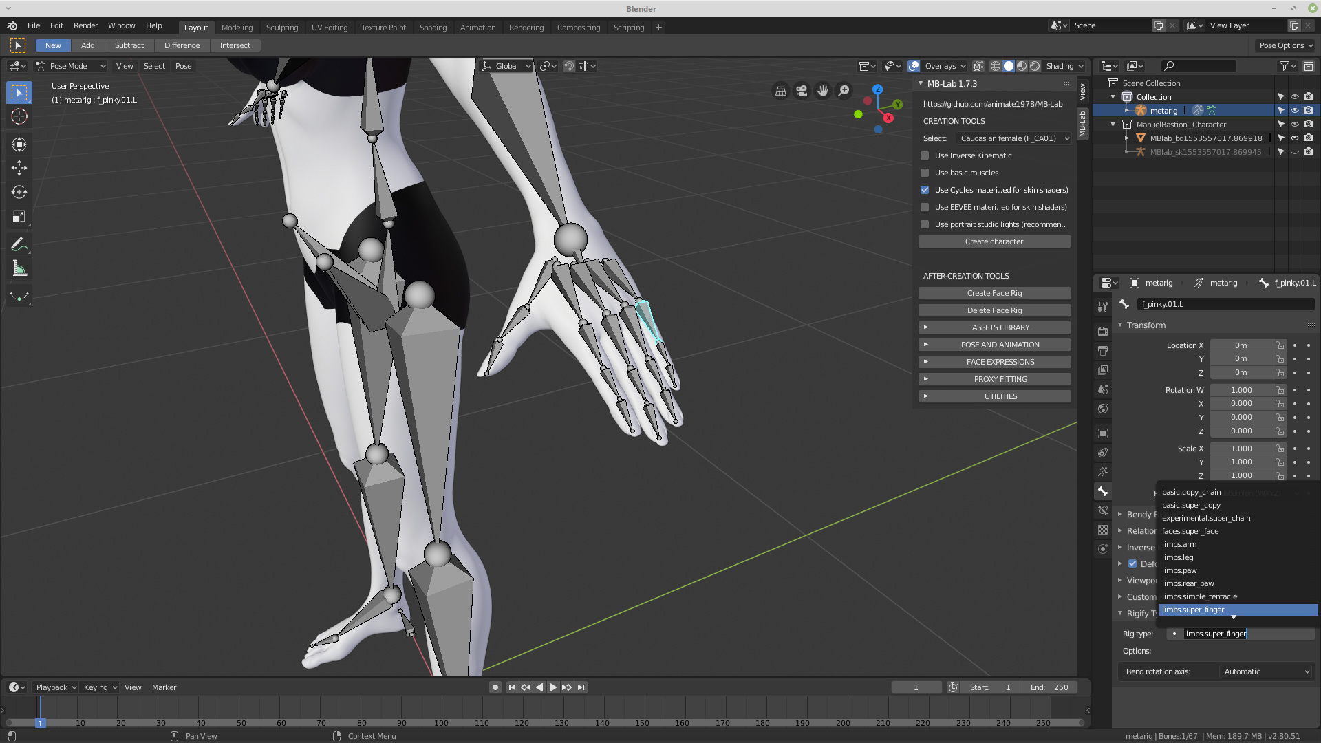 MB-Lab Release for Blender 2 80 - Released Scripts and