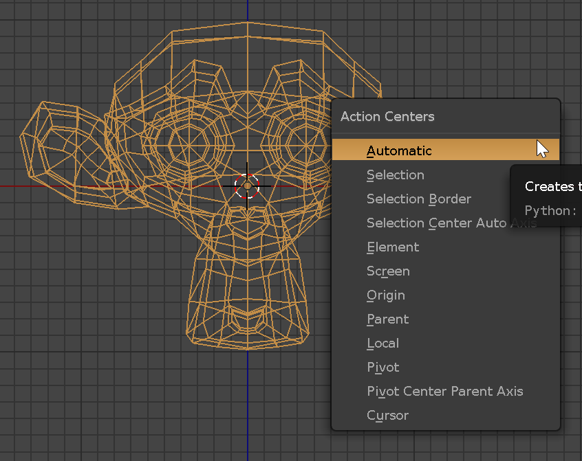 Modo-Me, Modo like action centers in Blender, Smart Action