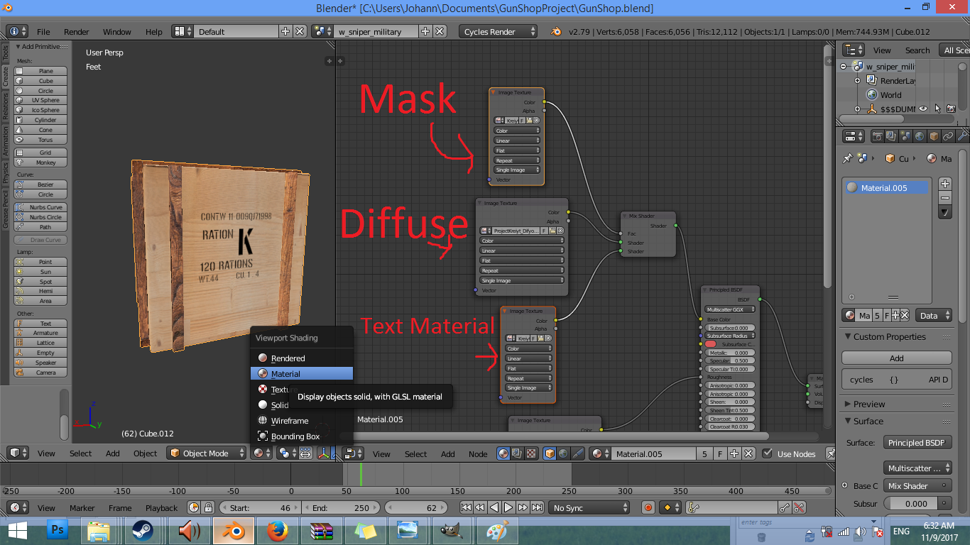 Why won't my mask work with Principled BSDF? - Materials and