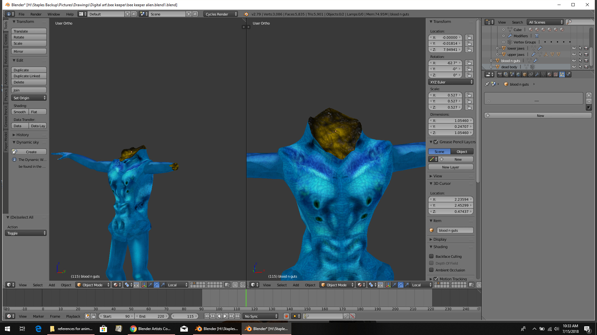 How Can I Animate Gore And Wounds On A Blender Character Animation And Rigging Blender Artists Community This is texture pack (7 jpgs) for 3d pbr materials format: how can i animate gore and wounds on a