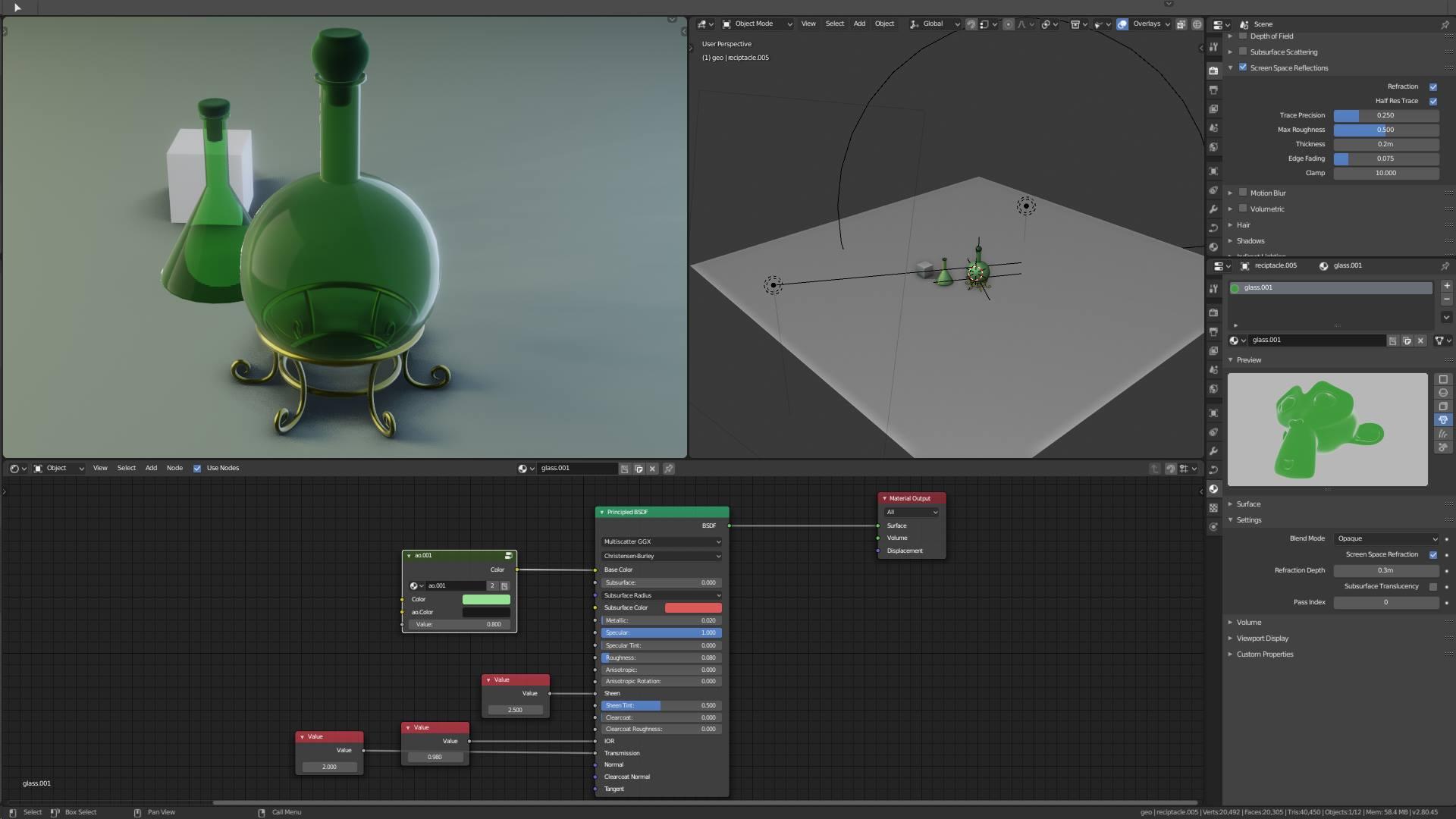 Eevee glass shader limitation - Works in Progress - Blender
