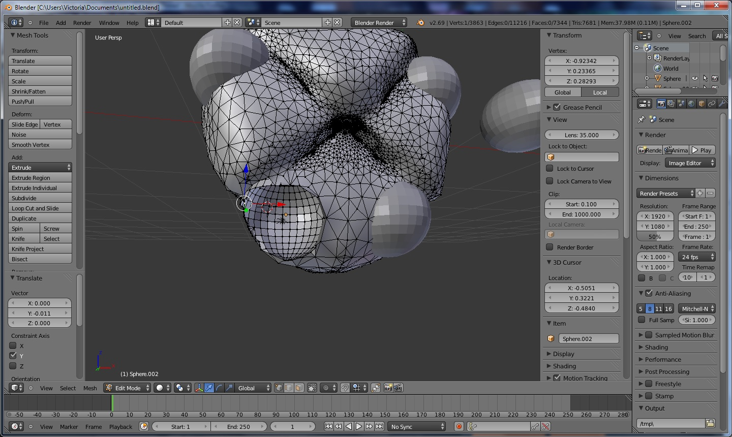 Removing part of an Object From an Object? - Modeling