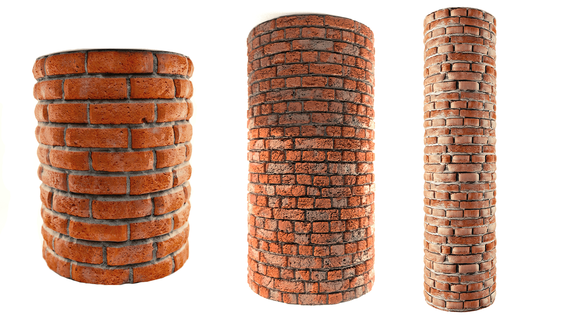 Textured Cylinders Using Textures Provided Respectively