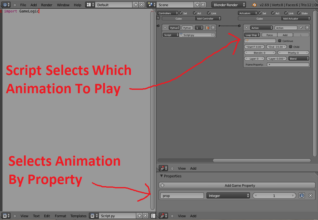 Setting Animation To Play With Python In Game Engine - Game
