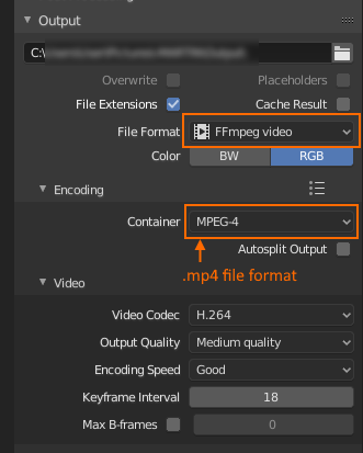 export as mp4