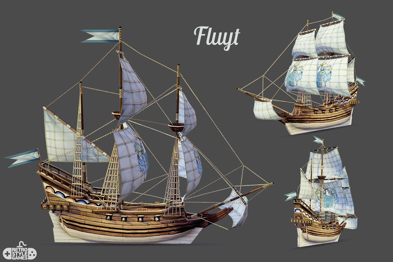 FREE 3D] Pirate themed HQ 3D models - Pirate Ship / Battle