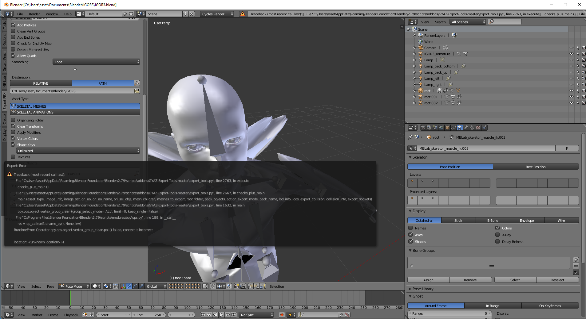 GYAZ Export Tools (Seamless Blender To Unreal 4 (FBX