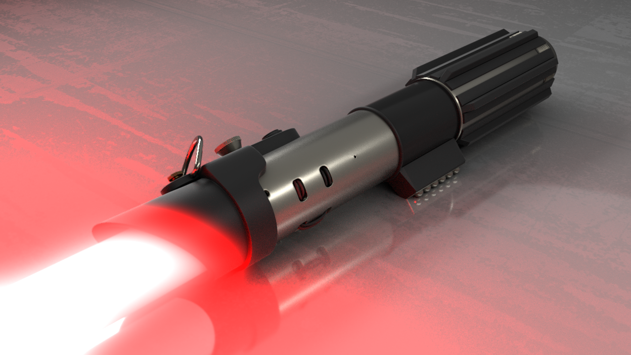 Fix the red aura of my lightsaber - Compositing and Post