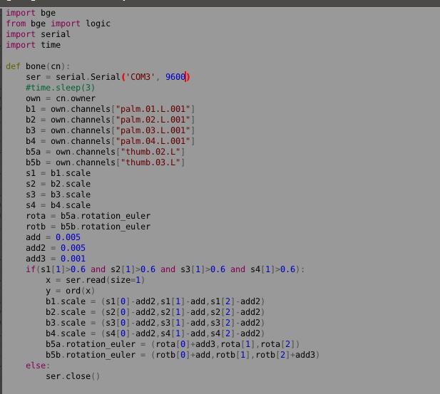 python serial doesn't work properly arduino blender - Game Engine