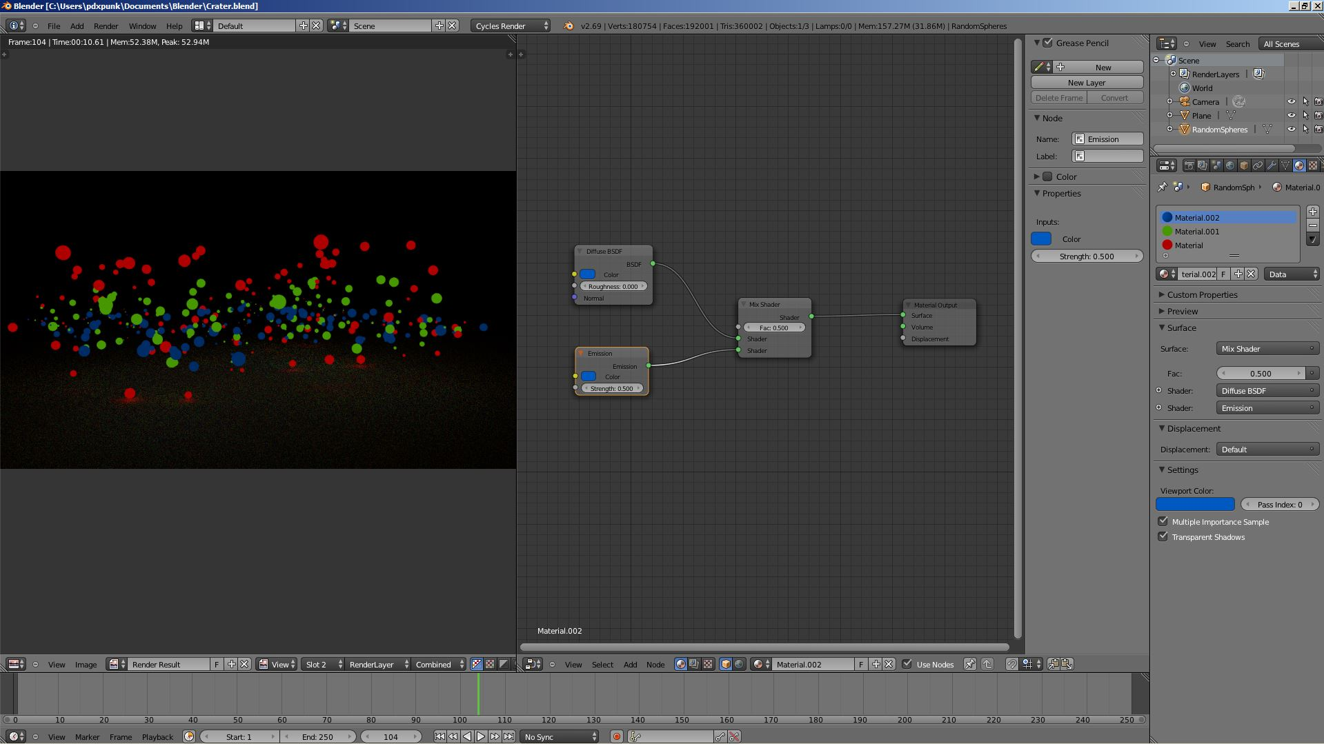 Is mixing Diffuse BSDF and Emission possible? - Lighting and ...