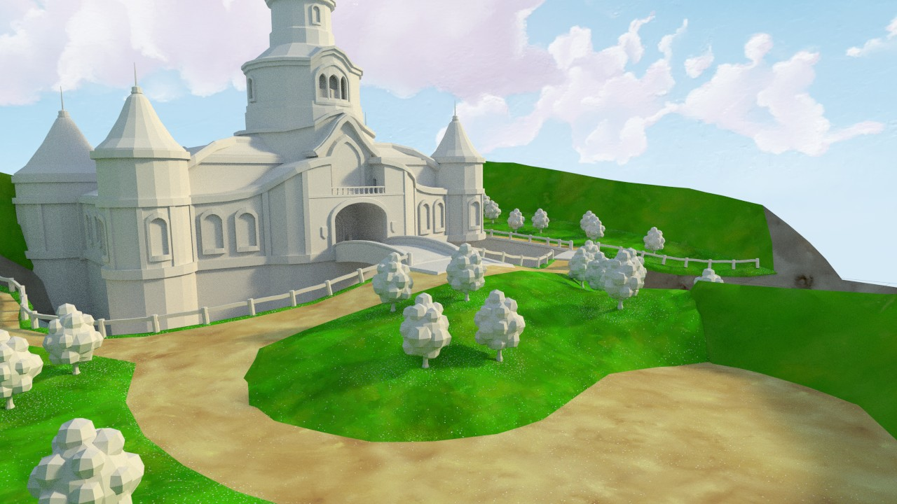 Peach's Castle - Remake from Mario 64 - Works in Progress