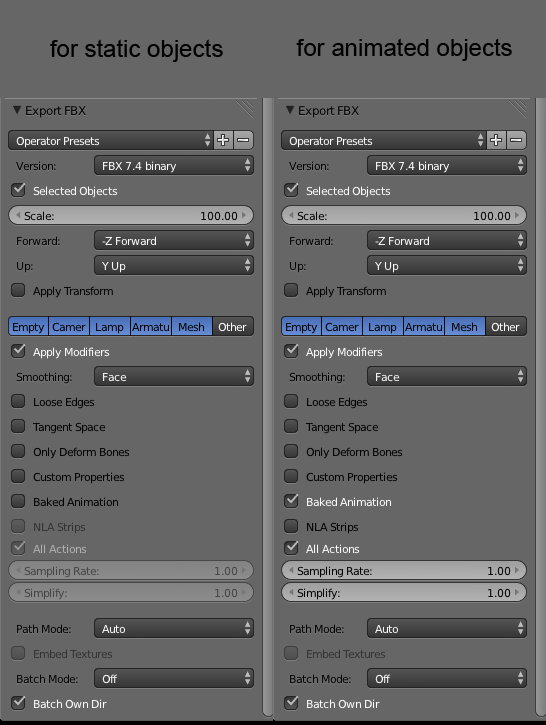 Problems with exporting from Blender to Unity (new exporter