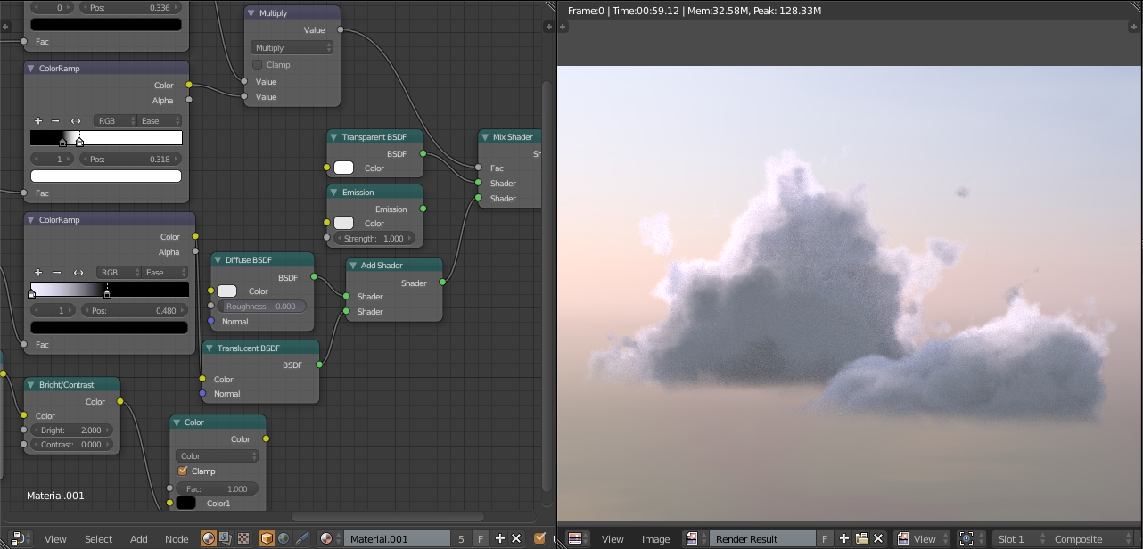 Faking Volumetric Clouds in Cycles [Ultra fast 1 sample