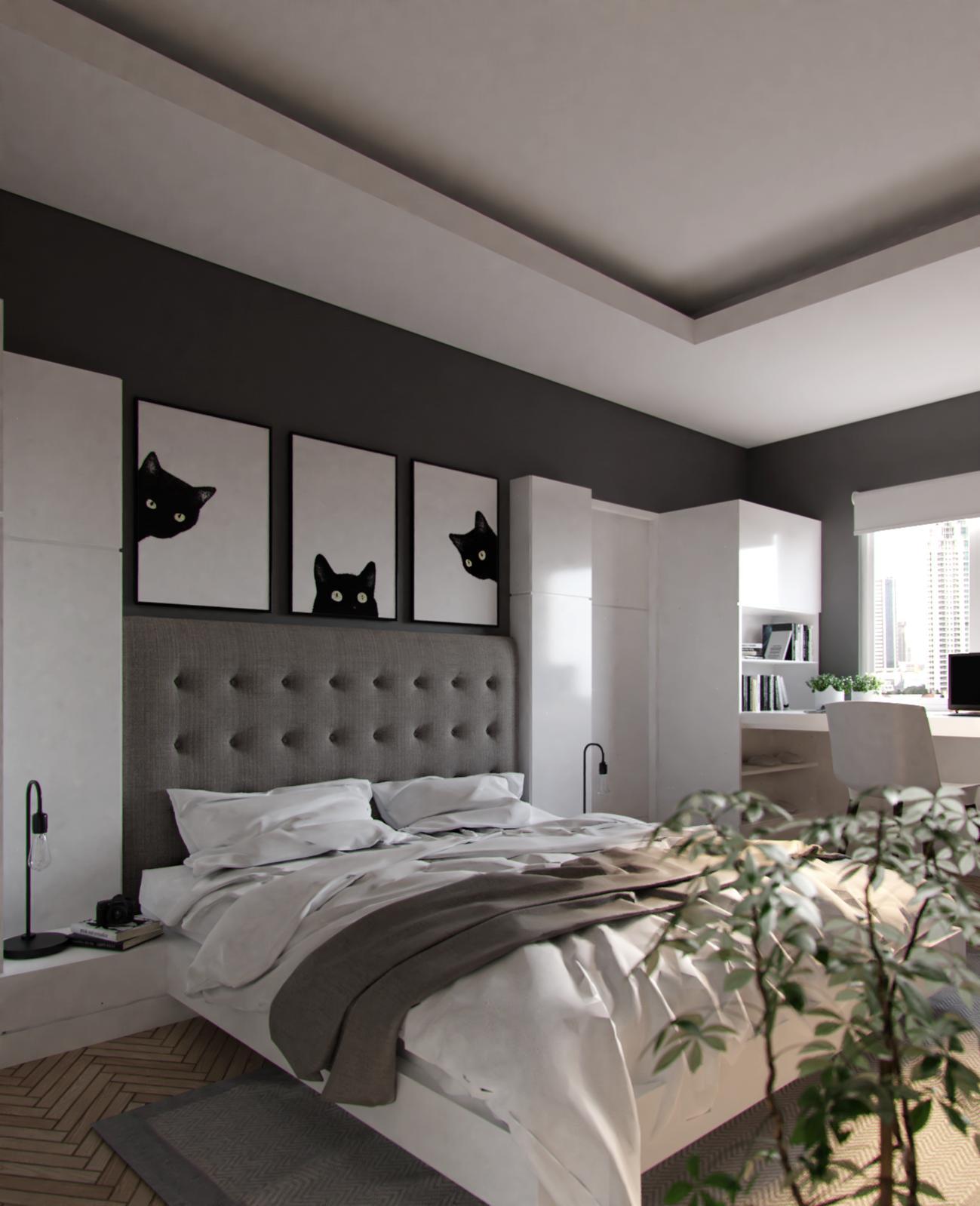 White-Grey Bedroom - Forum Gallery - Blender Artists Community