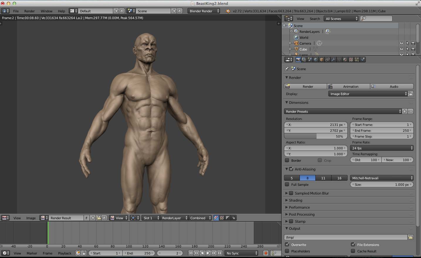 Switching workflow form ZBrush to Blender - Works in