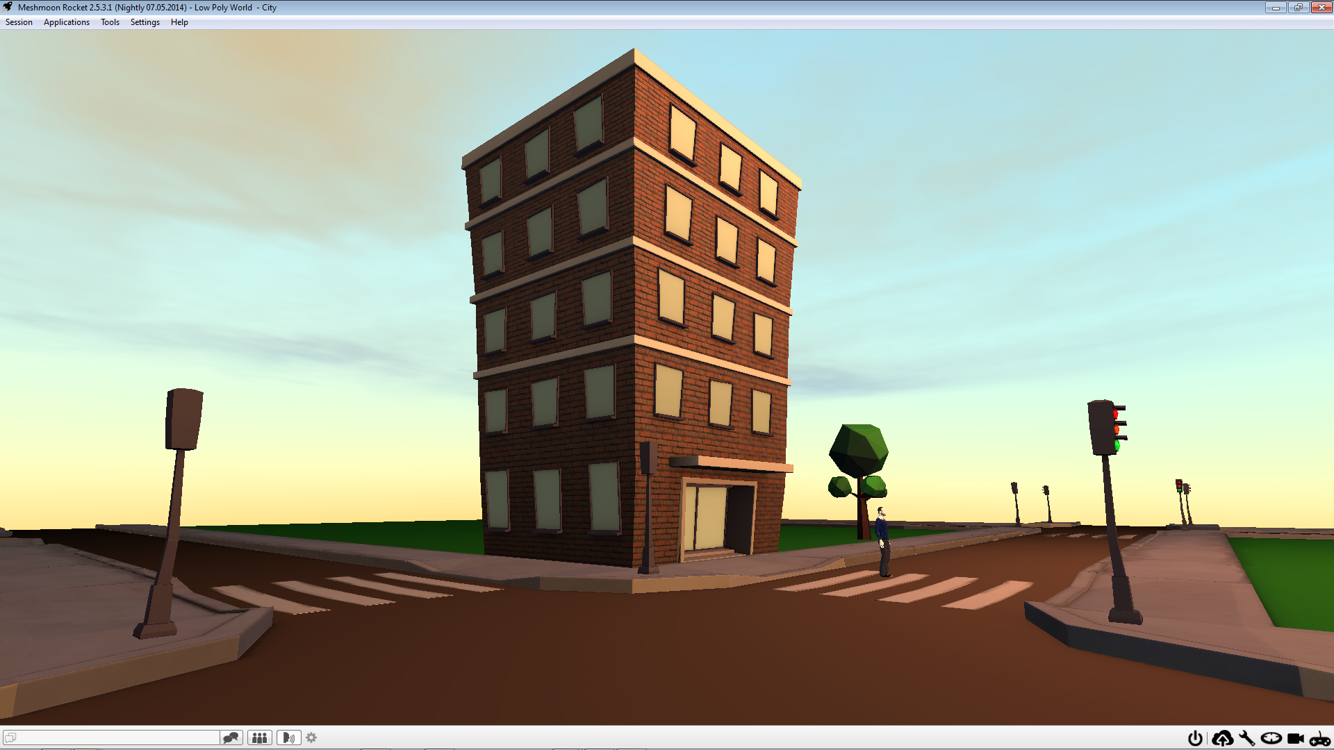 Blender to Meshmoon  Low Poly World City- Project - Works in