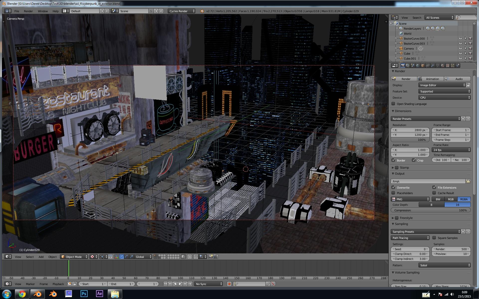 cyberpunk - night club - Finished Projects - Blender Artists Community
