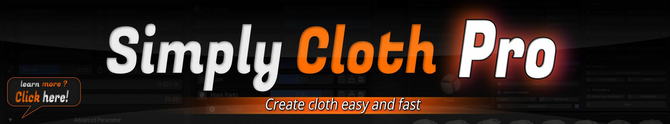 SimplyClothPro_BlenderArtists_Banner