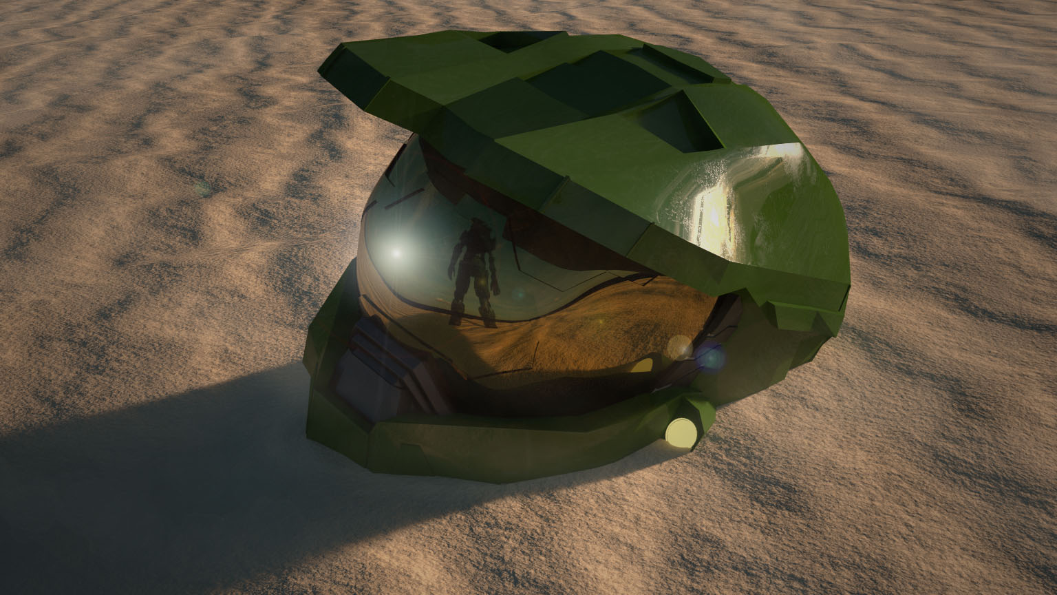 Halo Master Chief Helmet Finished Projects Blender