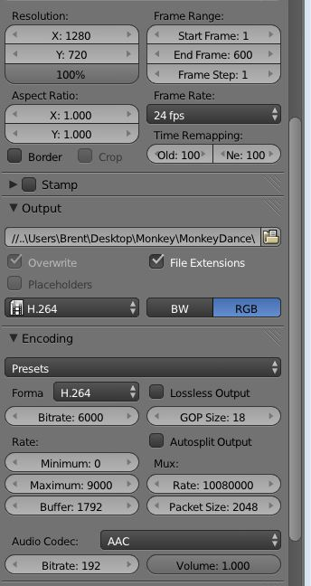 Rendering to a format compatible with Premiere Pro