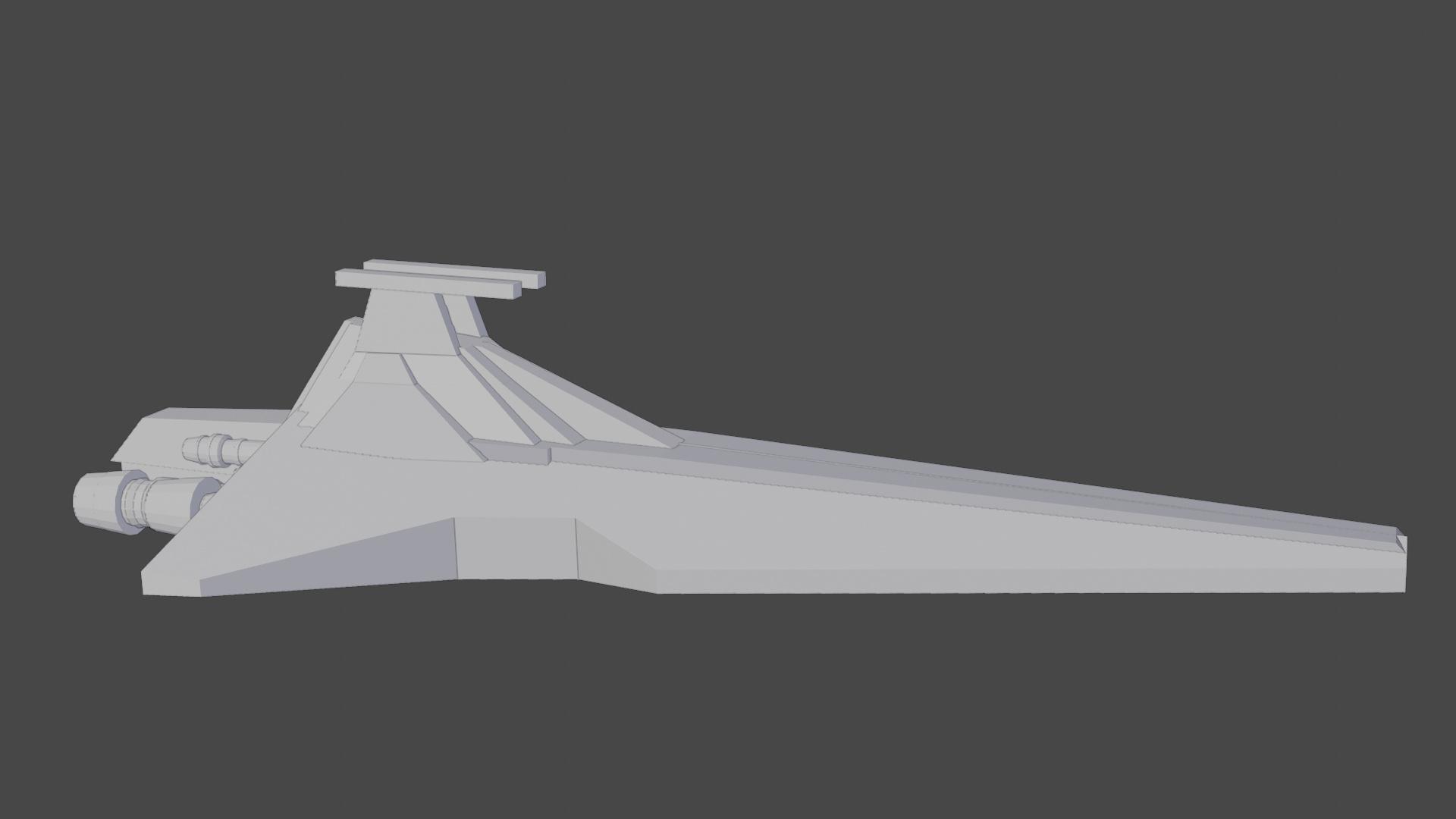 Venator Class Star Destroyer Works In Progress Blender Artists
