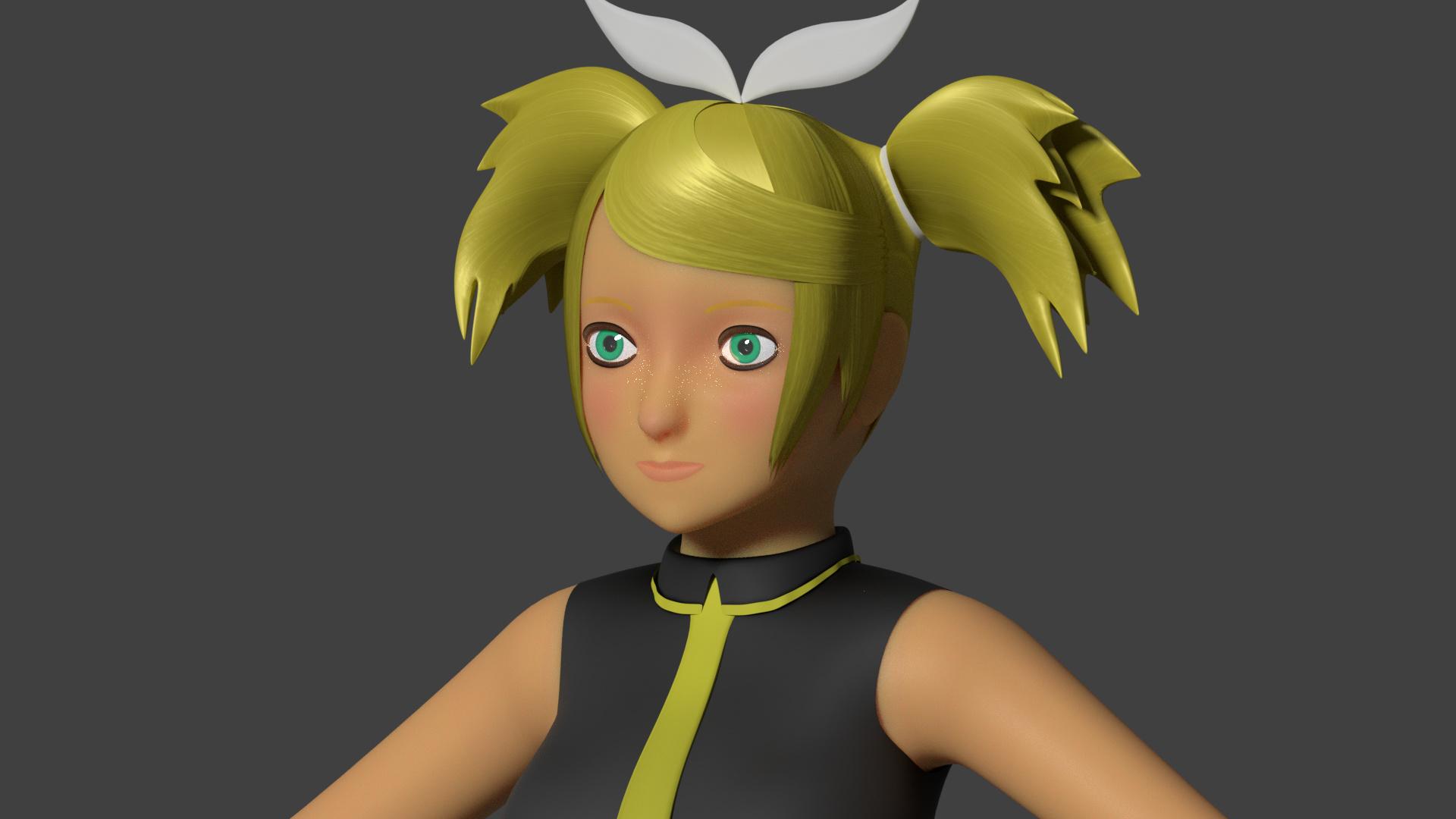 Semi-Realistic Anime Character - Works in Progress - Blender