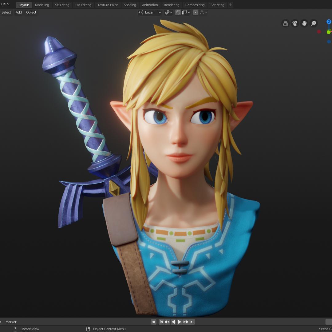 Link From The Legend Of Zelda Finished Projects Blender